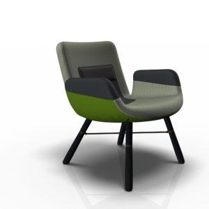Vitra East River Chair Sessel, Stoffmix grün - zwei verschiedene Gestelle imfeco Onlineshop