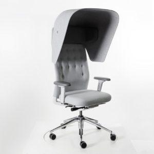Vitra ID Trim Cap, Bürodrehstuhl mit akustisch wirksamen Haube