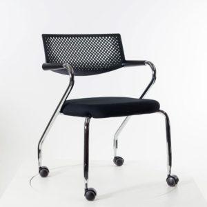 Vitra Visaroll 2, mobiler stapelbarer Stuhl auf Rollen