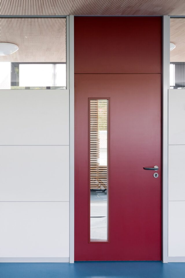 fecotür wood│feco partition walls│Markgrafenschool Emmendingen