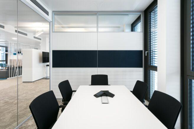Nachhaltig mit feco-Systemtrennwänden | Europe Plaza Stuttgart│DNGB Platin für Nachhaltigkeit