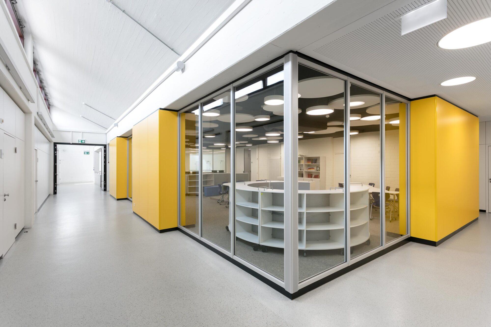 Skylight system walls create atmosphere   Kopernikus-Gymnasium Aalen