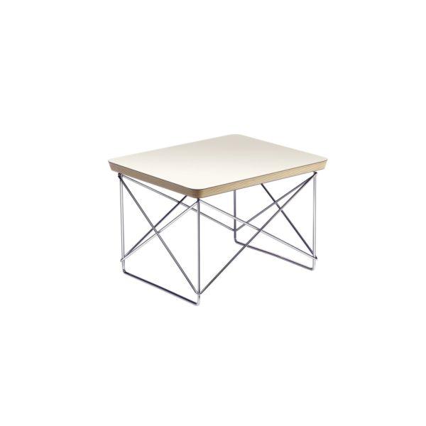 Vitra Occasional Table LTR weiß, Beistelltisch mit Stahldraht-Untergestell