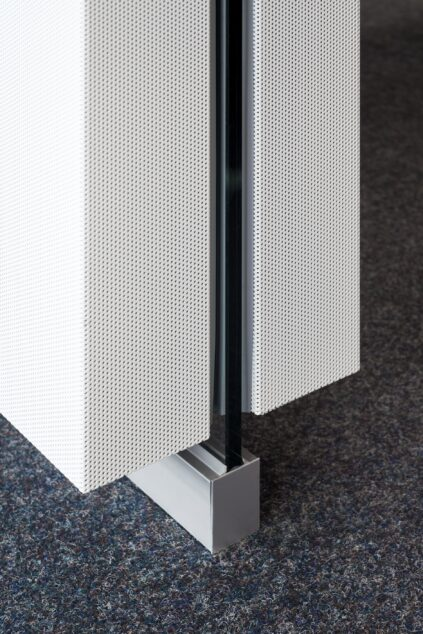 fecophon metal│feco partition walls│DM Callcenter Karlsruhe
