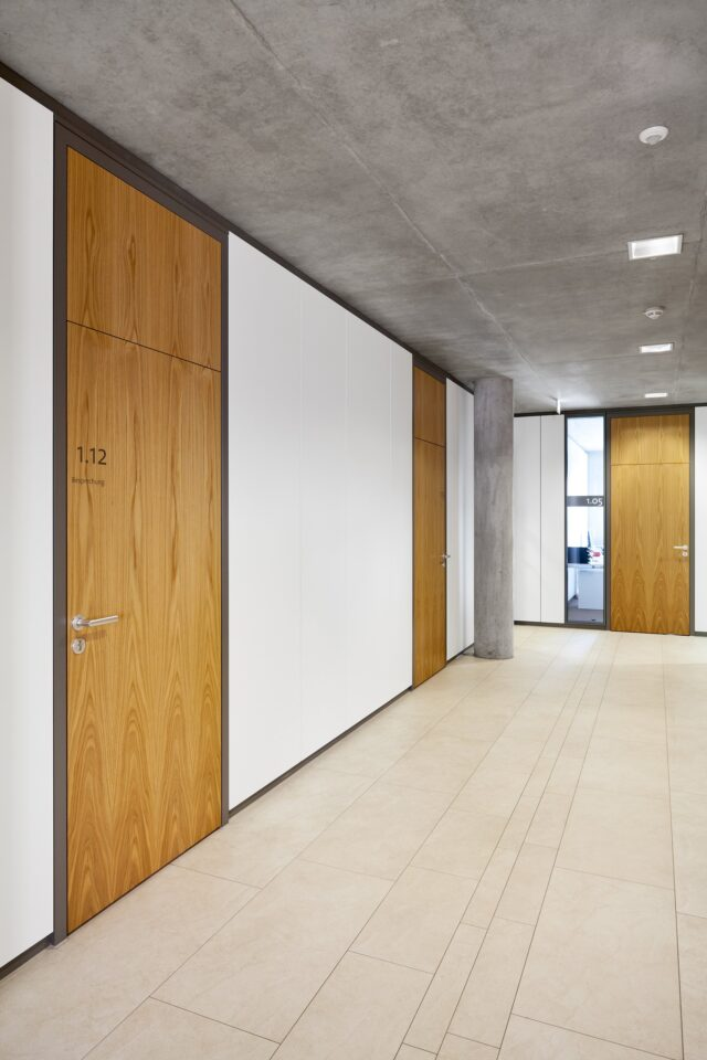 fecowand│feco partition walls│city hall Leingarten