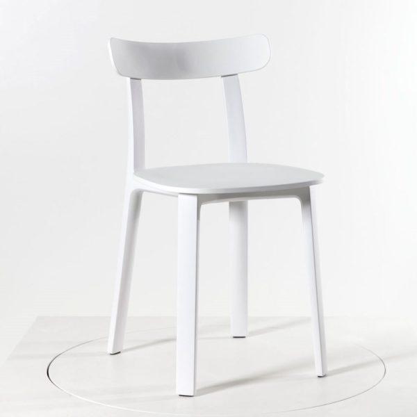 Vitra All Plastic Chair weiß │ robuster Kunststoffstuhl │ perfekt für Drinnen und Draußen