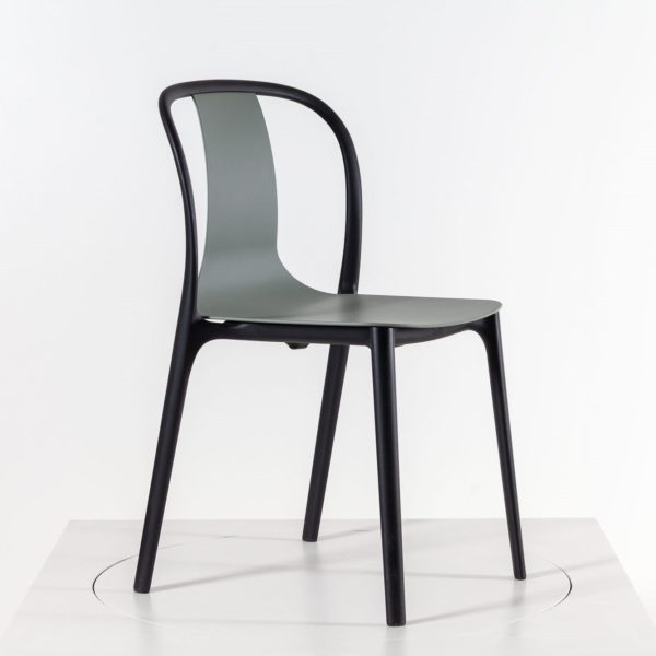 Vitra Belleville Chair Outdoorstuhl, moosgrau│Vitra Stühle bei feco Karlsruhe