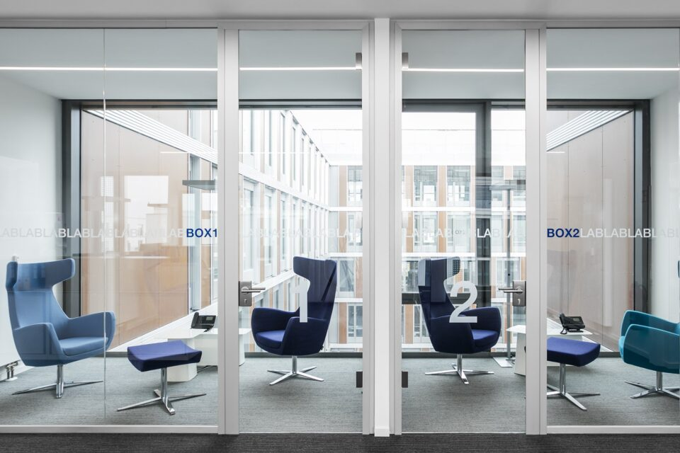 fecotür glass│feco partition walls│Synlab Munich