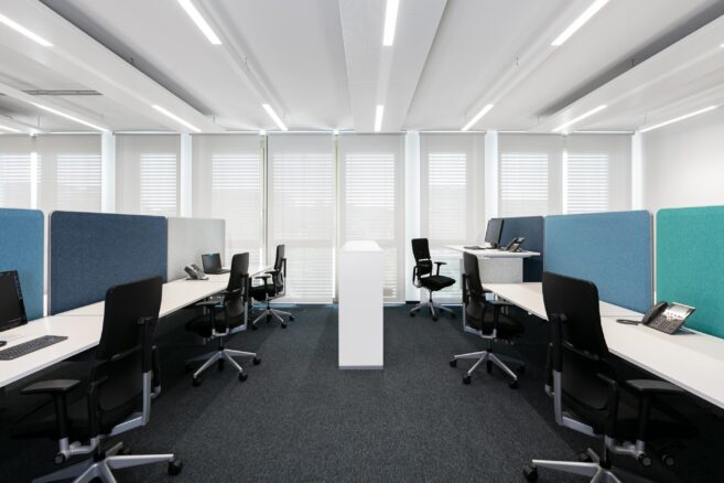 feco-feederel│partition walls│Airfield Office Boeblingen