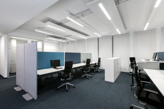 feco-feederel│partition walls│Airfield Office Boeblingen
