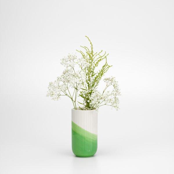 Vitra│Herringbone Vase│grün gerippt│Accessoires│Vitra in Karlsruhe