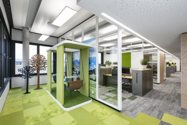 feco-feederle│partition wall systems│Fiducia, Karlsruhe