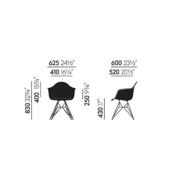 Vitra Eames Plastic Armchair DAW Masse│Vitra bei feco Karlsruhe