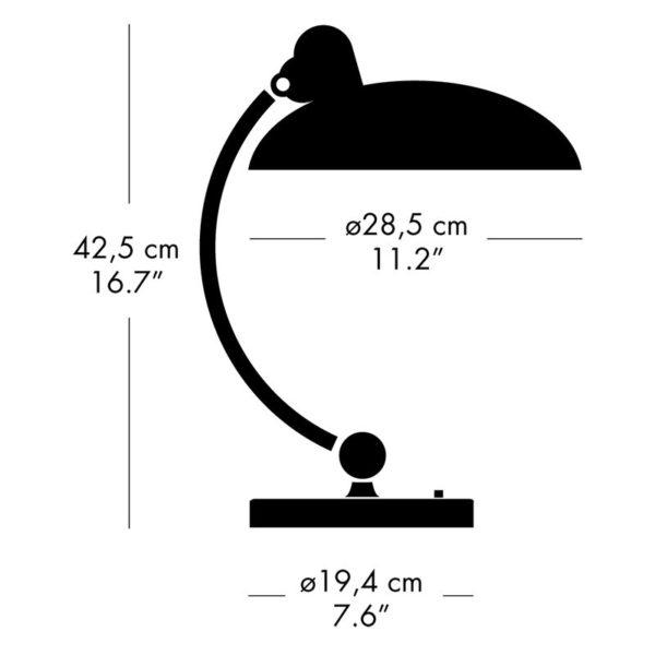 Fritz Hansen Kaiser idell Tischlampe, Abmessungen│Luxus Ausführung│schwarzgrün│sofort verfügbar│Mehr Tischleuchten bei feco Karlsruhe