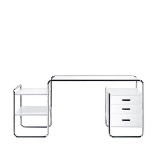 Thonet S 285 Schreibtisch reinweiß│Schubladen mit Vollauszug und gedämpftem Einzug│sofort verfügbar│Einzelstück│Schreibtische bei feco Karlsruhe