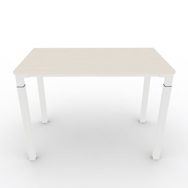 Steelcase Kalidro Schreibtisch │ höhenverstellbar │ Tischplatte Akazien Dekor │ Gestell weiß │ Steelcase bei feco in Karlsruhe