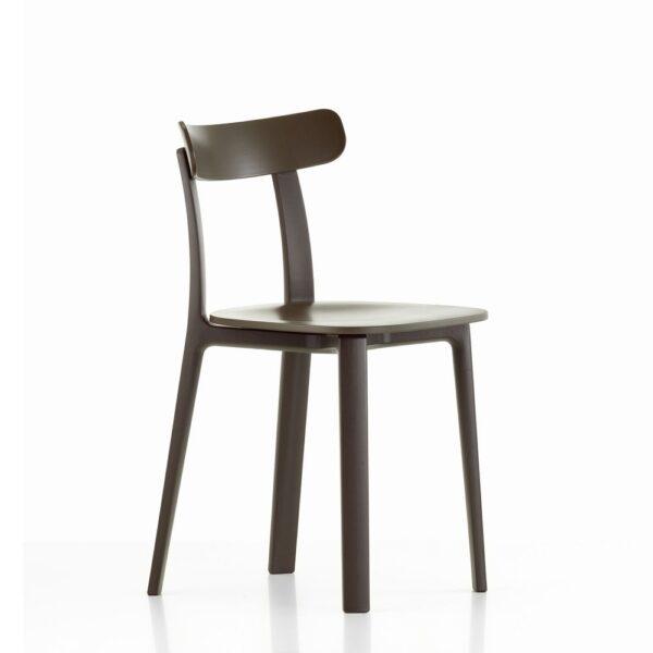 Vitra All Plastic Chair braun│ robuster Kunststoffstuhl │ perfekt für Drinnen und Draußen