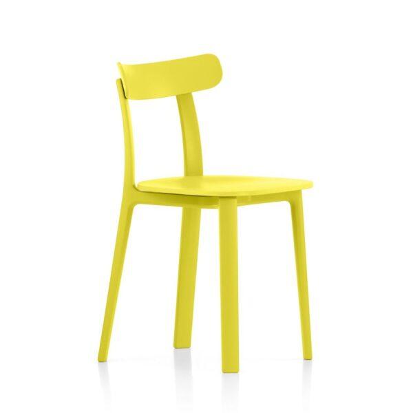 Vitra All Plastic Chair butterblume│ robuster Kunststoffstuhl │ perfekt für Drinnen und Draußen