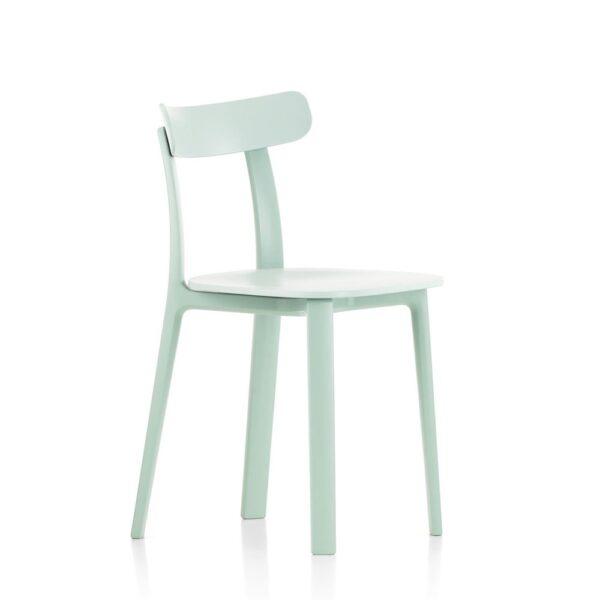Vitra All Plastic Chair eisgrau │ robuster Kunststoffstuhl │ perfekt für Drinnen und Draußen