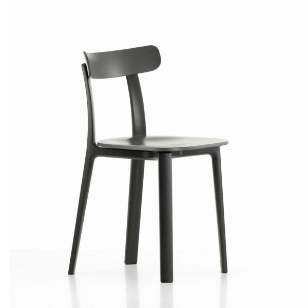Vitra All Plastic Chair backstein│ robuster Kunststoffstuhl │ perfekt für Drinnen und Draußen