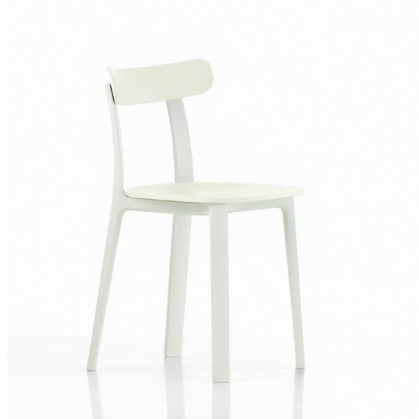 Vitra All Plastic Chair weiß│ robuster Kunststoffstuhl │ perfekt für Drinnen und Draußen