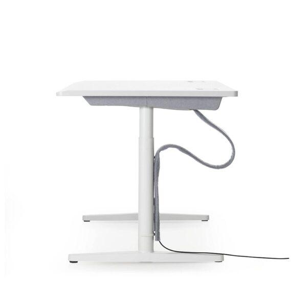 Vitra Schreibtisch, stufenlos elektrisch höhenverstellbar │ Melamin, soft light │1400 x 700 mm │ seitlich