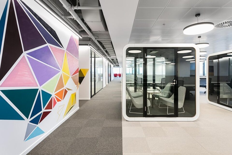 feco-feederle│partition wall systems│IT Services Company, Bucharest