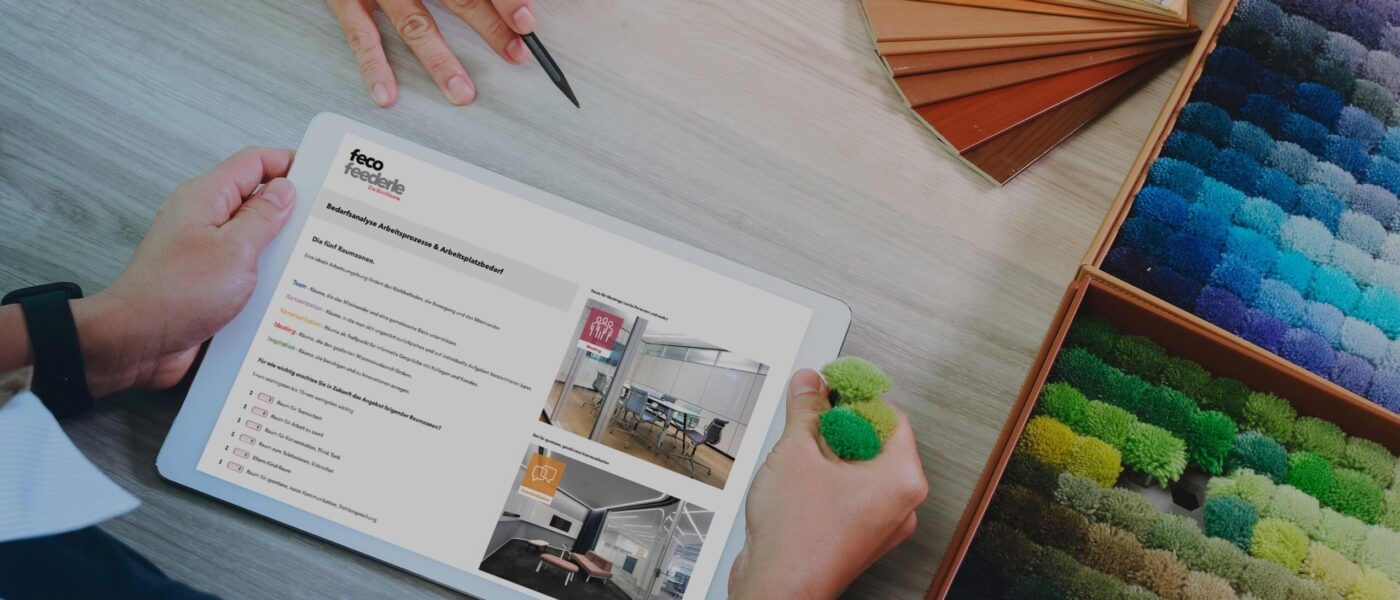 feco BüroCheck │ Unsere Leistungen. Gemeinsame Schritte zum neuen Büro │ Online-Umfrage für Mitarbeiter*innen als Grundlage der Büroplanung